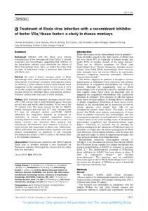 tissue factor: a study in rhesus monkeys