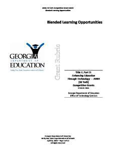 Title II, Part D: Enhancing Education Through Technology ARRA (Ed Tech) Competitive Grants CFDA A