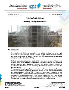 Title: Scaffold Guidelines. Issued By: Facility Permit Section