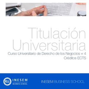 Titulación Universitaria. Curso Universitario de Derecho de los Negocios + 4 Créditos ECTS