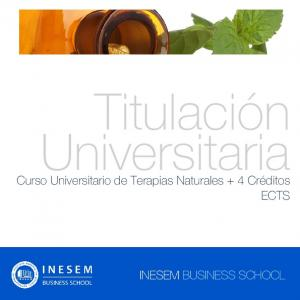 Titulación Universitaria. Curso Universitario de Terapias Naturales + 4 Créditos ECTS