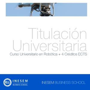Titulación Universitaria. Curso Universitario en Robótica + 4 Créditos ECTS