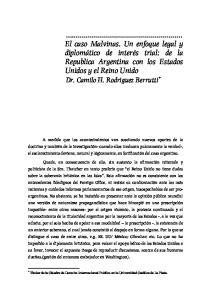 Titular de la Cátedra de Derecho Internacional Publico en la Universidad Católica de La Plata