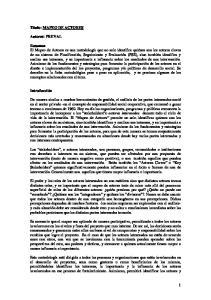 Titulo: MAPEO DE ACTORES. Autores: PREVAL