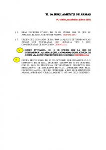 TL 96. REGLAMENTO DE ARMAS