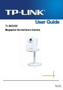 TL-SC3230 Megapixel Surveillance Camera