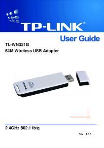 TL-WN321G 54M Wireless USB Adapter