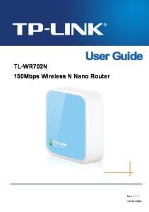 TL-WR702N 150Mbps Wireless N Nano Router