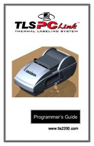 TLS PC Link TM Programmer s Guide