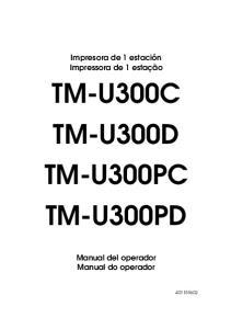 TM-U300C TM-U300D TM-U300PC TM-U300PD