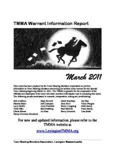 TMMA Warrant Information Report