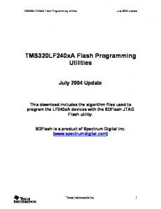 TMS320LF240xA Flash Programming