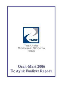 TMSF Faaliyet Raporu 2004