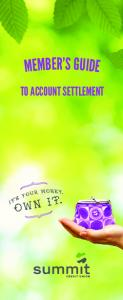 TO ACCOUNT SETTLEMENT