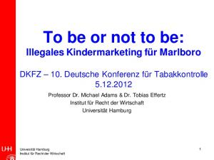 To be or not to be: Illegales Kindermarketing für Marlboro
