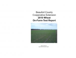 To: Beaufort County Wheat Producers and Agribusinessmen