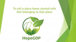 To call a place home started with feel belonging to that place
