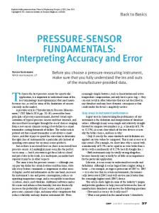 To choose the best pressure sensor for a particular