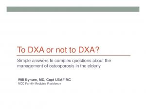 To DXA or not to DXA?