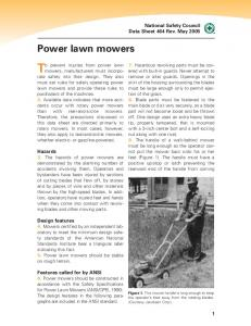 To prevent injuries from power lawn