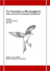 To Translate a Mockingbird