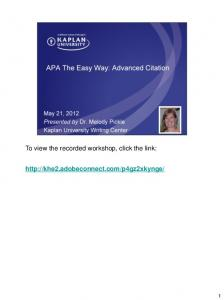 To view the recorded workshop, click the link:
