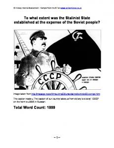To what extent was the Stalinist State established at the expense of the Soviet people?