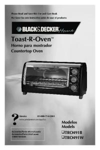 Toast-R-Oven Horno para mostrador Countertop Oven