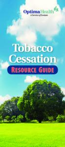 Tobacco Cessation RESOURCE GUIDE