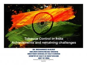Tobacco Control in India Achievements and remaining challenges