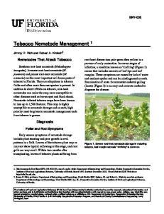 Tobacco Nematode Management 1