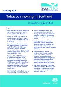 Tobacco smoking in Scotland: