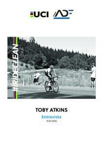 TOBY ATKINS Entrevista