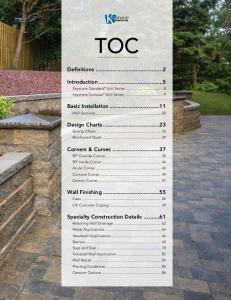 TOC. Definitions...2. Introduction...5. Basic Installation Wall Sections Design Charts Gravity Charts...25 Reinforced Charts