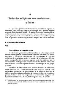 Todas las religiones son verdaderas... y falsas