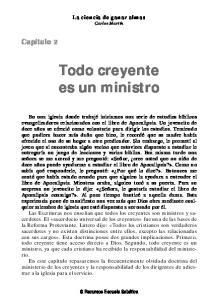 Todo creyente es un ministro