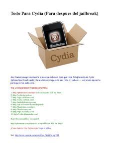 Todo Para Cydia (Para despues del jailbreak)