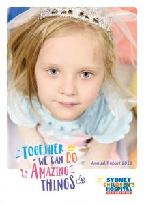 TOGETHER WE CAN DO AMAZING. Annual Report 2015 THINGSI