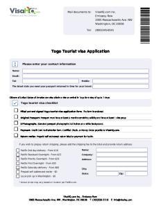 Togo Tourist visa Application