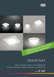 TOLEDO FLAT. Verbesserte LED-Technologie Improved LED-technology