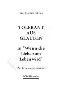 TOLERANT AUS GLAUBEN. in