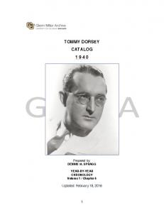 TOMMY DORSEY CATALOG