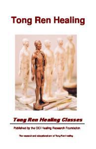Tong Ren Healing Tong Ren Healing Classes