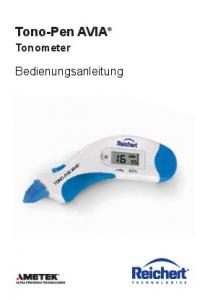 Tono-Pen AVIA Tonometer