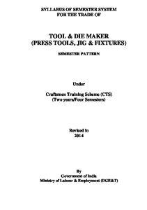 TOOL & DIE MAKER (PRESS TOOLS, JIG & FIXTURES)