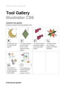 Tool Gallery Illustrator CS6