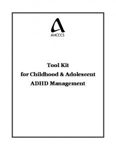 Tool Kit for Childhood & Adolescent ADHD Management
