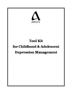 Tool Kit for Childhood & Adolescent Depression Management
