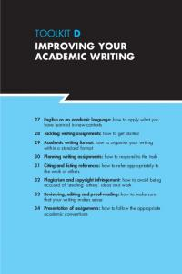 TOOLKIT D IMPROVING YOUR ACADEMIC WRITING