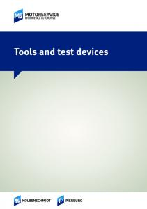 Tools and test devices